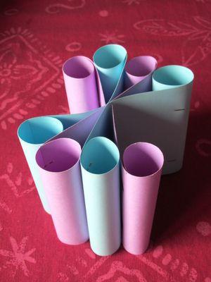 vases pour fleurs en origami association masi. Black Bedroom Furniture Sets. Home Design Ideas