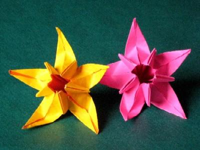origami fleur jonquille id e d 39 image de fleur. Black Bedroom Furniture Sets. Home Design Ideas