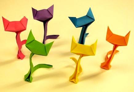 Chats Origami réalisés par la MASi